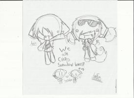 ..Sketch.. Angie and Me by Ama-Foxy