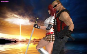 Candy Cane and Duke Nukem Apocalypse end by DreamCandice