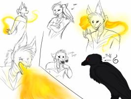 SoM AU   sum sketches by w-olflover443