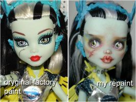 MH Frankie as Voltageous repaint before and after by kamarza