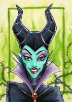 Maleficent-ACEO by Faerytale-Wings