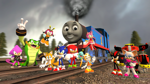 Sonic, Thomas and The Freedom Fighters (REQUEST) by Nictrain123