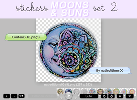 + MOONS AND SUNS |STICKERS SET 2| by natieditions00