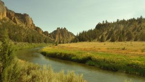 Smith Rocks + River by OrangeKitty100