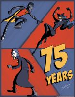 75th Anniversary of Robin, The Joker, and Catwoman by IAMO76