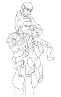 Loki and His Kids by TheBritishGeek
