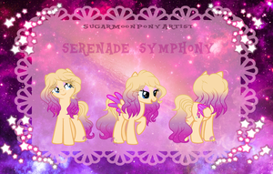 Serenade Symphony Reference Sheet by SugarMoonPonyArtist