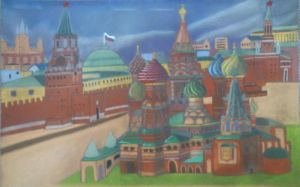 Saint Basil's Cathedral - Pastel Rendition by sudro
