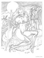 Lady Death pencil by lucianolima01
