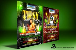 Tipsy Saturdays Flyers by AnotherBcreation