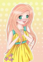 Fluttershy Human! by Beckii-Hi-Five