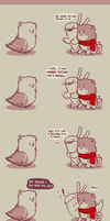 Rabbit and Crayon weekly comic - Seagull by DaveRabbit