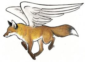 Flying Fox by WildSpiritWolf