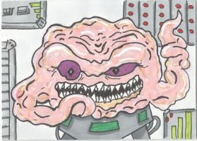 Krang sketch card by kylemulsow