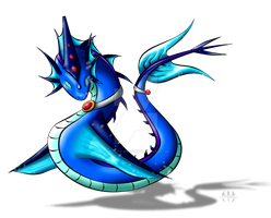 Lil' water dragon by H-brid