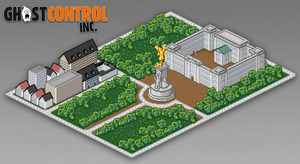 Buckingham Palace - Pixelart - Ghost Control Inc. by BumblebeeGames