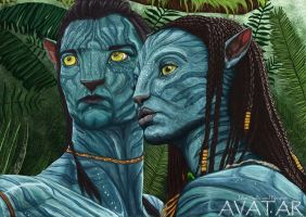 Jake Sully and Neytiri by Emlis