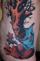 Rocket Raccoon and Groot Tattoo (complete) by turtle31b