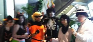 NekoCon Photodump 16 - Homestuck Groupshot by SanchaySquirrel