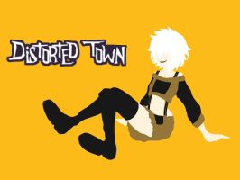Distorted Town promotional poster by BlaerLightBreeze