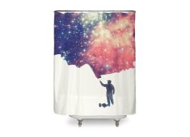 Painting the Universe  Shower Curtain by mrsbadbugs