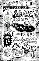 Warble Rozelle Show Flyer by hyronomous