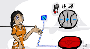 Chell on iScribble by portal-club