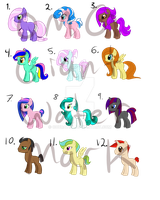 Adoptable set (OPEN) (LOWERED PRICES) by ParkaPassions