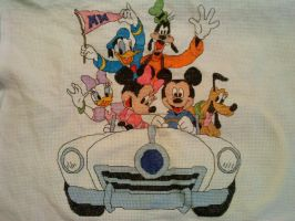 Disney Mickey Mouse and gang by kynight