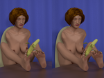Katie, Eating A Banana Stereo by skin2279