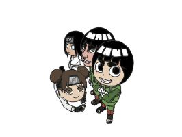 Rock Lee and team by Goforthpro