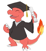 Commission - Charmeleon 's graduation by sapphireluna