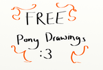 FREE pony drawings CLOSED by LittleRock3DD