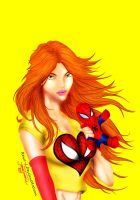 Mary Jane coloring by Rene-L