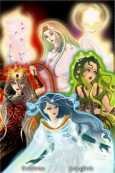 four element unite by Firenevermore2012