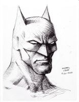 Batman pen sketch 5-20-2014 by myconius