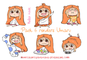 Pack 6 Renders Umaru by MoreSharesPhotoshop