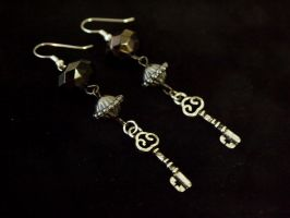 Victorian Key Earrings by TheJugulateJeweler