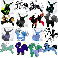 Pokemon Adopts close by carlyboo11