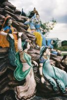 Radha Krishna and Gopis by firestripe