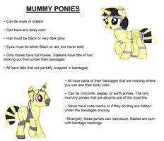 Mummy Ponies Species Reference by Strawberry-T-Pony