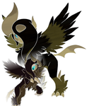 Dark  Mother Absol, and  Baby Absol PS by smonsels