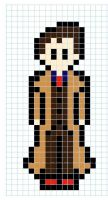 Perler 10th Doctor by BartonBeads