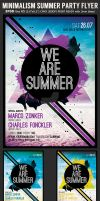 Minimalism Summer Party Flyer Template by Hotpindesigns