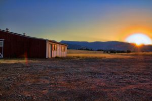 Sunset on the farm by Doogle510