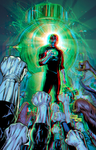 Green Lantern in 3D Anaglyph by xmancyclops