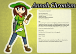 Annah Chronism - Character Profile by cheesycoke