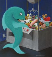 Fish at Claw Machine - Final by tursiart