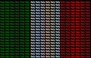Italy name flag by ABtheButterfly