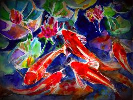 Koi for my Father by TamiTw